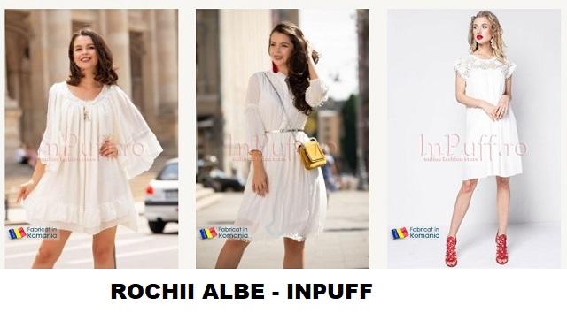 rochii albe inpuff