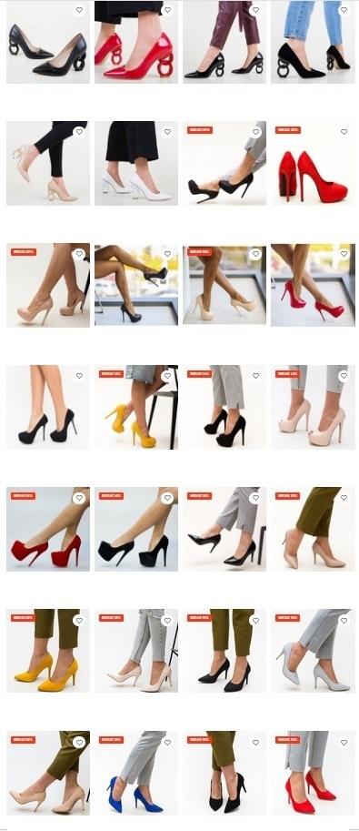 pantofi dama depurtat