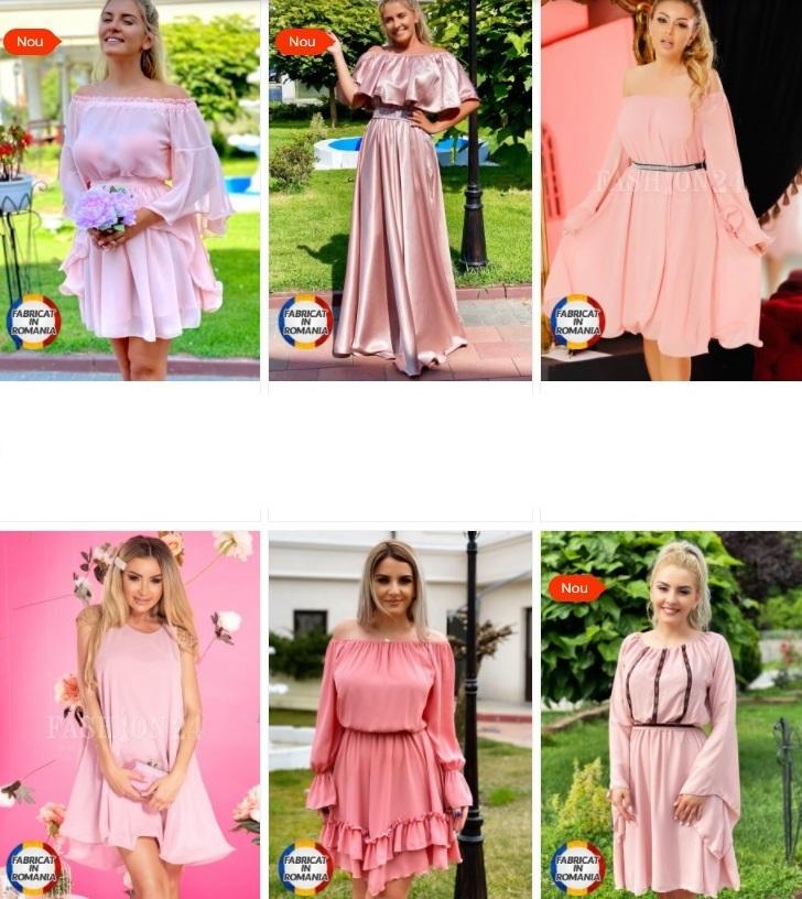 rochii roz