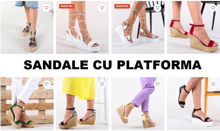 sandale cu platforma depurtat