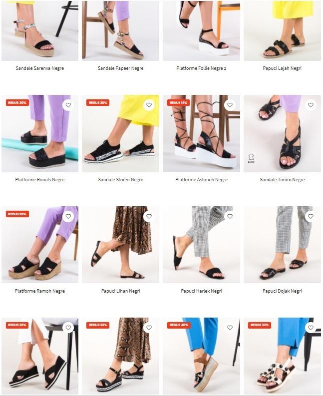 sandale negre femei